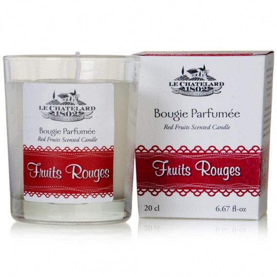 Bougie parfumée fruits rouges